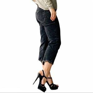 R13 Italian Boyfriend Crop Relaxed Destroyed Jeans